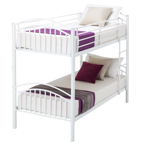 3 person bunk bed modern 3ft white single metal bunk bed frame 2 person for