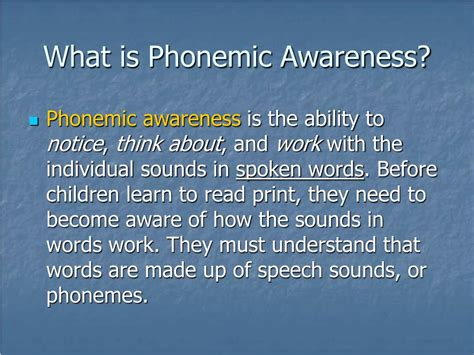 Ppt  Teaching Phonemic Awareness Powerpoint Presentation Id182669