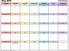 May 2019 Calendar 2018 calendar with holidays