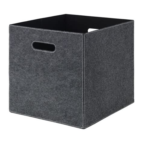 BLÄDDRA Box Grey 33x38x33 cm  IKEA