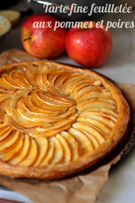 tarte feuillet 233 e aux pommes poires ultra simple mais d 233 licieuse rdv aux mignardises chez mouni
