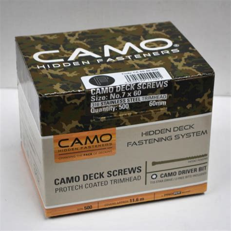 60mm camo pack of 500 stainless steel deck screws with 1