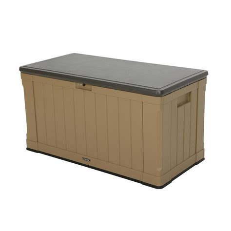 Rubbermaid Deck Box Home Depot by Rubbermaid 56 Gal Bridgeport Resin Storage Cube Deck Box