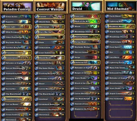 i reached legend 4 different classes decks inside