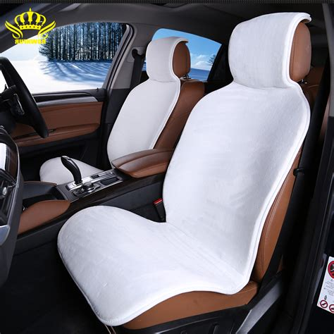 aliexpress buy 2 pc front cars fur cape car seat covers accessories seat cover white color