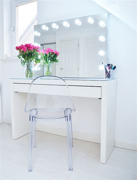 dressing table with lighted mirror uk lights decoration