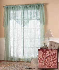 lace curtain w attached valance in stock window panel white ivory burgundy ebay