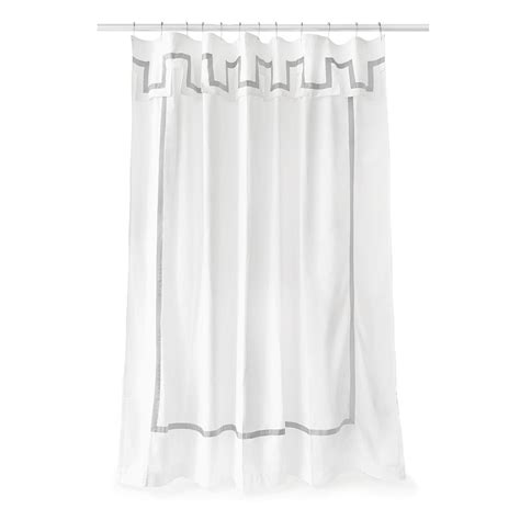 buy jonathan adler santorini shower curtain gray white amara