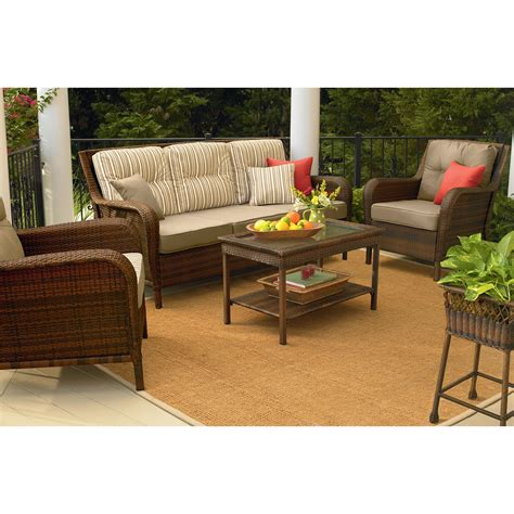mayfield wicker patio sofa transform your outdoor style with sears