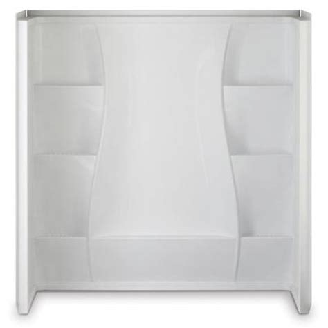 home depot bathtub surround 32 in x 60 in x 61 5 in 5 direct to stud tub wall