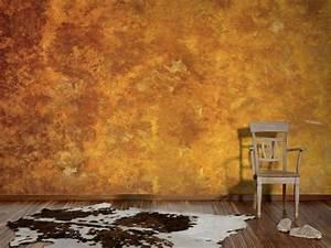 Effekt Farbe Streichen : wohnideen wandgestaltung maler erstellen von rostoptik an w nden im cortenstahl look ~ Markanthonyermac.com Haus und Dekorationen