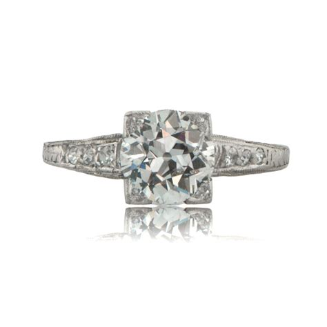 deco engagement ring circa 1920
