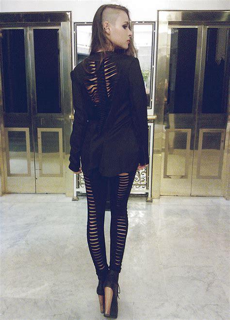 paula suchowera choies black 3d neoprene blazer vintage black 3d jeffrey cbell
