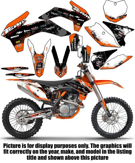 2008 2011 ktm exc xcf 125 250 300 450 530 graphics set kit deco decals 2009 2010 ebay