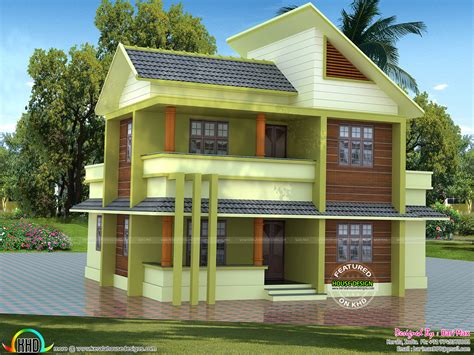 8 Lakhs Home Design : 1700 Sq-ft ₹30 Lakhs Cost Estimated Modern Home