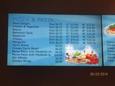 marina pizza menu picture of atlantis tower autograph collection paradise island