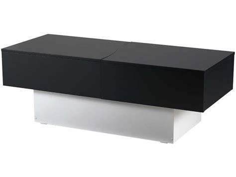 table basse city box coloris noir blanc vente de table basse conforama