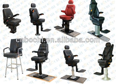 china aluminum frame leather cover boat captain chair
