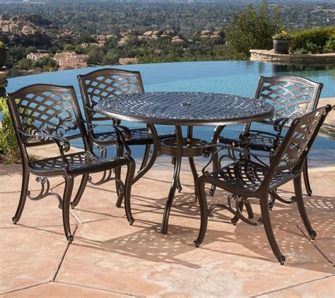 patio furniture sets clearance cast aluminum best outdoor dining 5 metal ebay