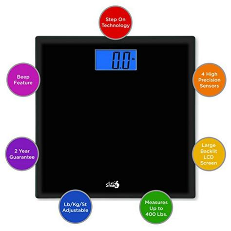 eatsmart precision choice digital bathroom scale easy