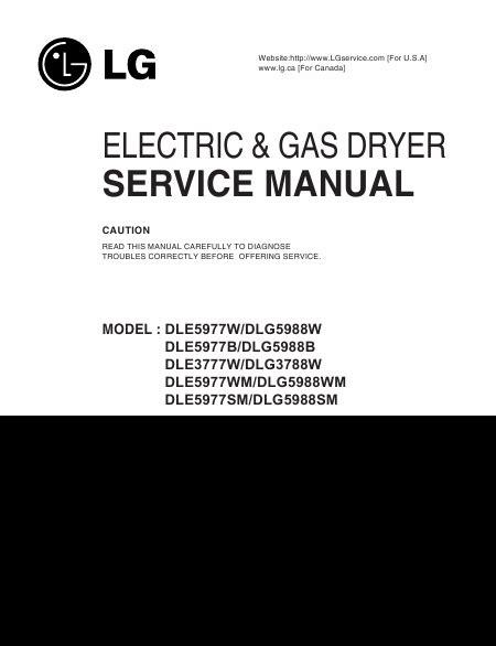 lg dle3777w manuel de service t 233 l 233 charger pdf s 232 che linge anglais
