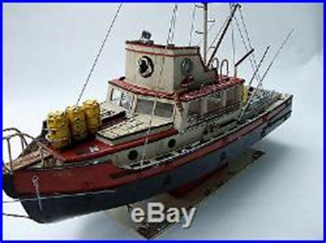 Toy Lobster Boat by Jaws Orca Wooden Model Boat Wood Lobster Fishing Trawler