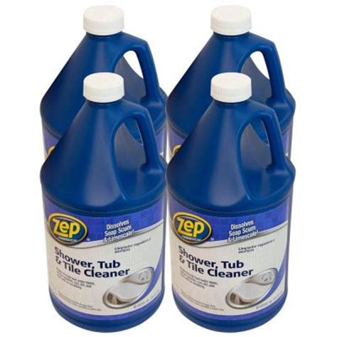 zep 128 oz shower tub and tile cleaner pro pack of 4 zustt128pp the home depot