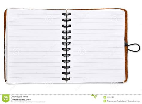Open Blank Paper Notebook Stock Image Image Of Meeting 16124101