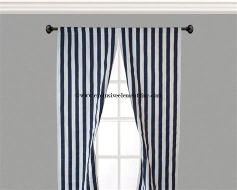 Navy Striped Curtain Panels by Curtain Panels Navy White Stripe Curtains By Exclusiveelements