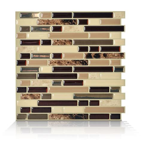 smart tiles 1 10 13 inch x 10 inch peel and stick bellagio mosaik the home depot canada