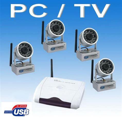 kit de 4 cameras surveillance sans fil longue port 201 e comparer les prix de kit de 4 cameras
