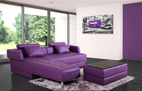 canap 233 d angle cuir violet r 233 versible et convertible largo lestendances fr