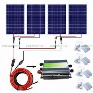 400W solar panel complete kit home system for 24V RV PV ...
