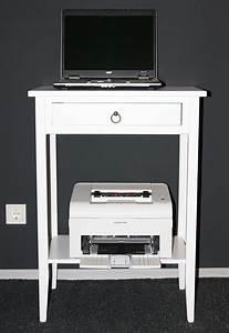 Beistelltisch Für Laptop : massivholz beistelltisch konsolentisch druckertisch laptoptisch holz massiv wei ebay ~ Markanthonyermac.com Haus und Dekorationen
