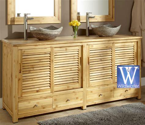 meuble de salle de bain en teck massif collection wildwater