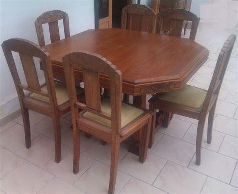 table hexagonale 6 chaises clasf