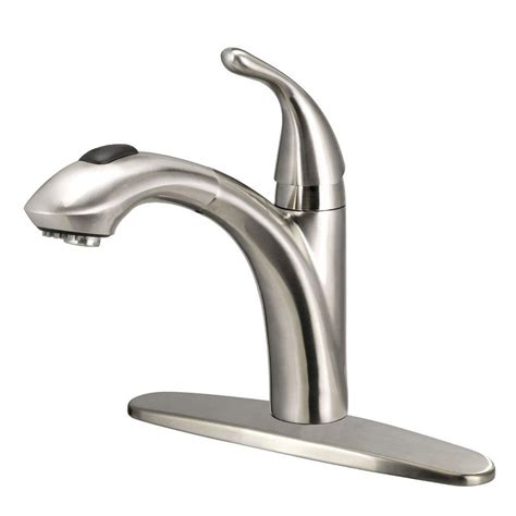 glacier bay keelia single handle pull out sprayer kitchen faucet in brushed nickel fp4a0052bnv