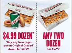 Krispy Kreme Buy Two Dozen Doughnuts Only $999
