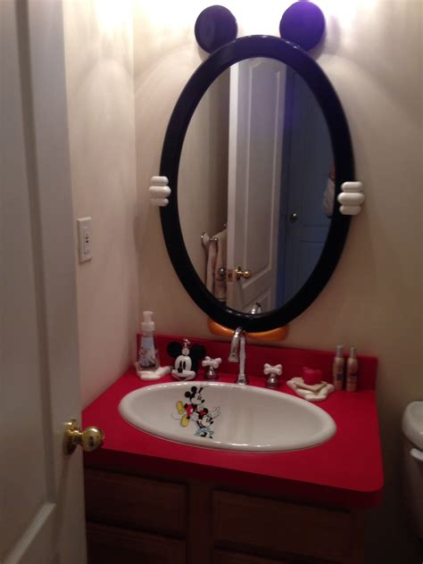 bathroom mickey mouse wall decor for design and toilet