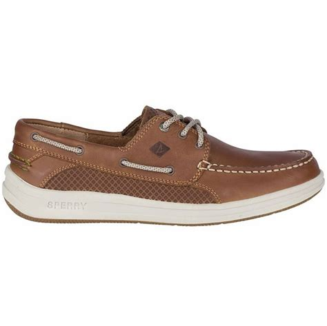 Tan Sperry Boat Shoes by Sperry Gamefish 3 Eye Boat Shoes Dark Tan 9m
