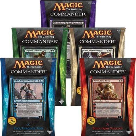 commander 2014 c14 complete set of 5 magic products 187 preconstructed decks 187 commander