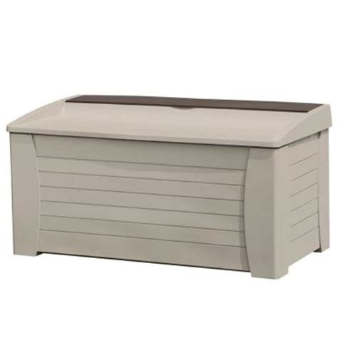 suncast 127 gallon deck box with seat discontinued
