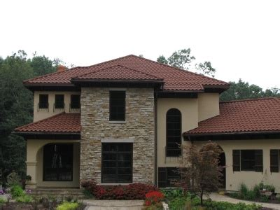 17 best images about metal tile roofs on villas metal roof and roof tiles