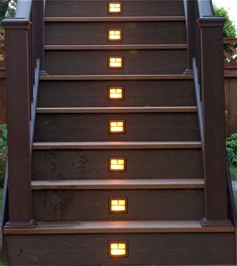 deck design ideas deck step lighting made easy with outdoor solar lights