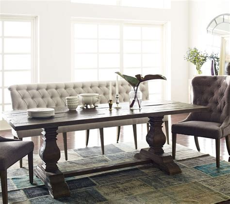 French Tufted Upholstered Dining Bench Banquette Bedroom