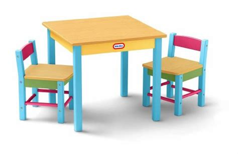 order here tikes deluxe wooden table chairs set