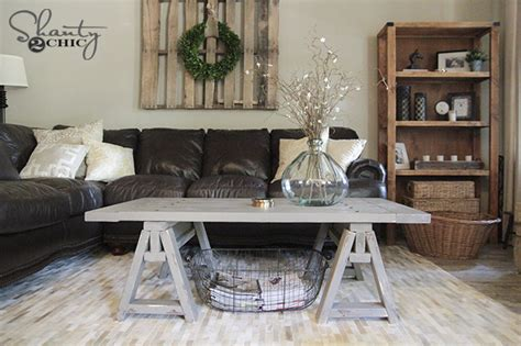 Diy Sawhorse Coffee Table  Free Plans & Tutorial With