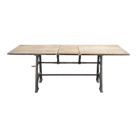 table 224 manger extensible en manguier et m 233 tal 10 personnes l180 manivelle maisons du monde