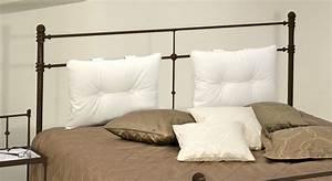 Kissen Für Bett Kopfteil : doppelbett aus metall 180x200 in komforth he astara ~ Markanthonyermac.com Haus und Dekorationen