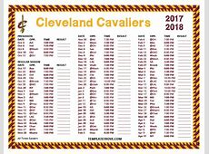 Printable 20172018 Cleveland Cavaliers Schedule
